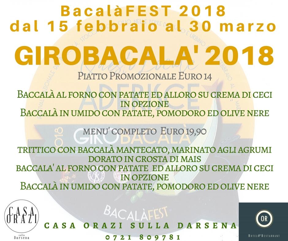 Festival Nazionale del Baccala' 2018