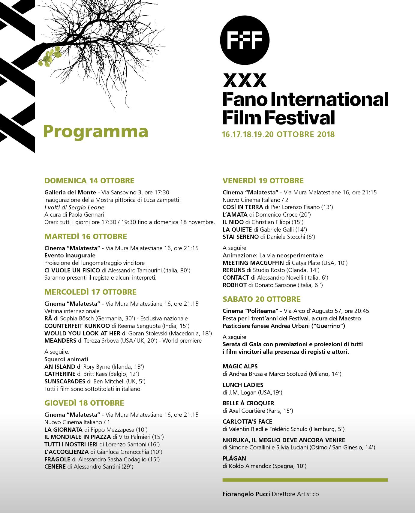 Fano Film Festival 2018