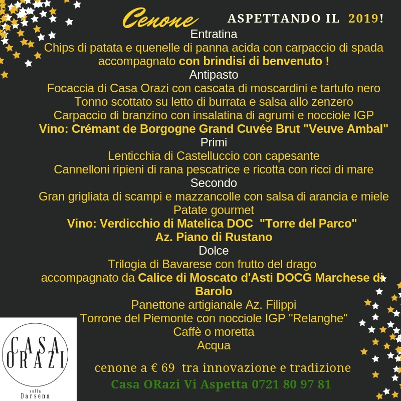 Capodanno a Casa Orazi Fano 2018